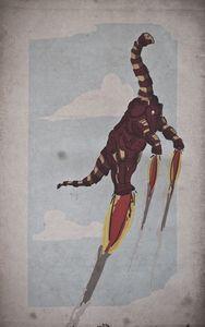 Super hero + Dinosaurs. Love it.