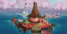 Sugar Rush concept art for Wreck-It Ralph