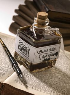 cure for writer's block: drink well, ink well