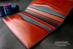 long hand made wallet