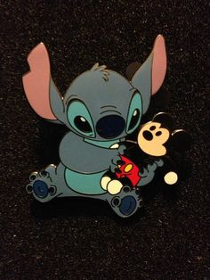 Stitch with Mickey Mouse Doll Disney Pin