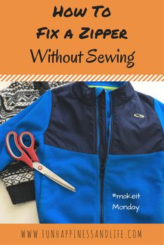 This is an easy clothing hack to fix a zipper without sewing. Used when the slider has broken off.