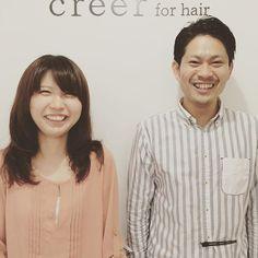 """""""本日のお客様 カットパーマ、カラー、トリートメントをさせていただきました❗️ 長い時間座りっぱなしだったのに笑顔で写真も写っていただきました^o^ いつもありがとうございます。 #美容室 #creer_for_hair"""" Photo taken by @creer_for_hair on Instagram, pinned via the InstaPin iOS App! http://www.instapinapp.com (09/11/2015)"""