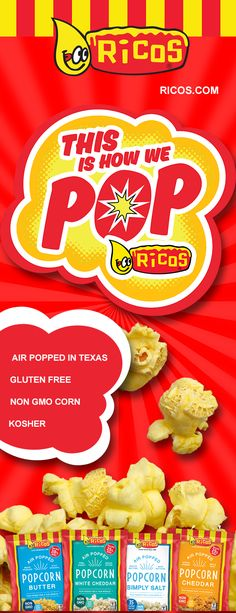 Ricos popcorn is air
