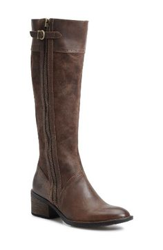 Free shipping and returns on Børn Poly Riding Boot (Women) at Nordstrom.com. Brogue detailing furthers the vintage refinement of a heavily distressed riding boot that lets you step out in style and comfort. Traditional Opanka construction ensures that the boot will remain a go-to staple season after season.