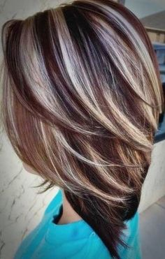 Trendy hair color highlights for winter short haircuts ideas - Trendy . - Trendy hair color highlights for winter short haircuts ideas – Trendy hair color highlights f - Hair Color Highlights, Ombre Hair Color, Purple Hair, Low Lights And Highlights, Brown Hair With Silver Highlights, Dark Brown Hair With Blonde Highlights, Fall Highlights, Brown With Blonde Highlights, Chunky Highlights