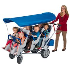 Quad Stroller, 4 seat stroller, Bye Bye stroller, 6 seat stroller, double stroller, daycare stroller, bye bye baby buggy and child care strollers at Daycare Furniture Direct
