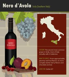 Italian wine is known worldwide for being bold and delicious, but how much do you know about the grapes that goes into each bottle? Learn all about Italian red wines in this grape guide! Wine Facts, Wine Varietals, Der Plan, Wine News, Wine Vineyards, Wine Education, Vides, Wine Guide, Vitis Vinifera
