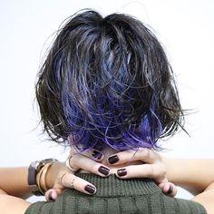 WEBSTA @ yoshi_gid - 改めてこの間の撮影の1枚。一眼ってすごい。#撮影 #モデル撮影#インナーカラー#ブルーグラデーション#濡れ髪…