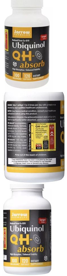 Health And Fitness: Jarrow Formulas Ubiquinol Qh-Absorb 100Mg 120 Softgels Exp 4 2020 -> BUY IT NOW ONLY: $31.95 on eBay!