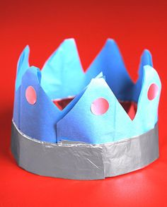 Foil-and-Paper Crowns After-School Crafts | Martha Stewart Living - A brand-new set of 365 days deserves a royal start -- so don sparkly crowns for the countdown.