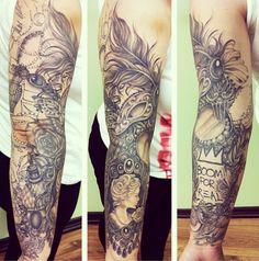Ryan Ashley Malarkey tattoo via Instagram Girly Tattoos, Leg Tattoos, Sleeve Tattoos, Cool Tattoos, Awesome Tattoos, Back Of Forearm Tattoo, Full Back Tattoos, J Tattoo, Tattoo Skin