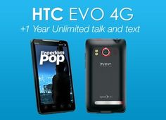 HTC Evo 4G with 1 Year Of Unlimited Talk + Text & 500 MB Data Per Month + FREE US Shipping