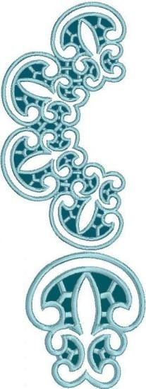 Advanced Embroidery Designs - Rounded Border Lace Set
