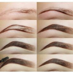 Make Up; Make Up Looks; Make Up Augen; Make Up Prom;Make Up Face; Makeup Steps Source by twaalam Eyebrow Makeup Tips, Skin Makeup, Beauty Makeup, Makeup Steps, Makeup Eyebrows, Nice Eyebrows, Eyebrow Wax, How To Do Eyebrows, Arched Eyebrows