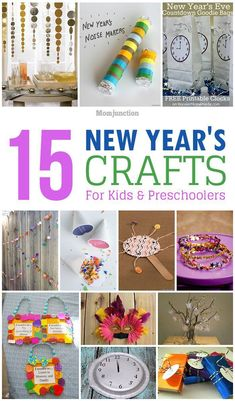 15 Interesting New Year's Crafts For Kids: here are 15 New Year craft ideas that will guarantee a fun time for you and your preschoolers. #KidsCrafts