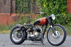 Triumph TR6 custom motorcycle