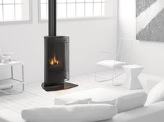 Heat and Glo Paloma Gas Stove Small Gas Fireplace, Stove Fireplace, Modern Fireplace, Fireplace Design, Direct Vent Gas Stove, Fireplace Showroom, Carleton Place, Three Color Combinations