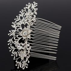 Women's/Flower+Girl's+Rhinestone/Alloy+Headpiece+-+Wedding+Hair+Combs+–+USD+$+6.99