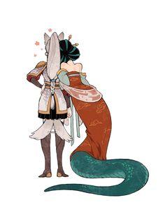 Fantasy Character Design, Character Design Inspiration, Character Art, Banana Art, Relaxing Art, Wow Art, Anime Art Girl, Mythical Creatures, Fantasy Characters