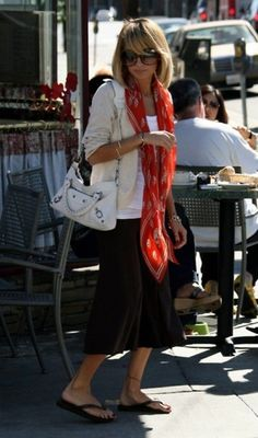 Red skull scarf