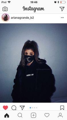 Ariana Grande-wearing moonlight mask