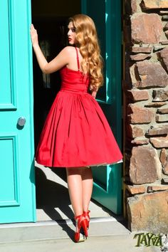 Pinup Couture Jenny Dress in Red