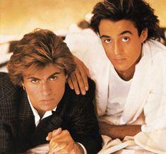 George Michael and Andrew Ridgeley of Wham! Wham Songs, George Michael Wham, Guilty Pleasure Songs, 1980s Music, Music, George Michael, Singer, George, Andrew Ridgeley