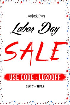 Lookbook Store Independence sale. Get up to 20% off by using the code above. #LBSLaborDaySale