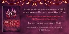 Cover Reveal, PreOrder, On Sale & Giveaway: Memories of Ash by Intisar Khanani