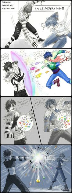 Oh my god. Rainbow LJ Vs Monochrome LJ <<< probably one of the most amazing fights to ever be created
