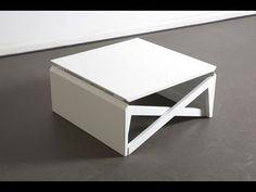 Mesa de centro transformable en mesa de escritorio o de comedor - YouTube