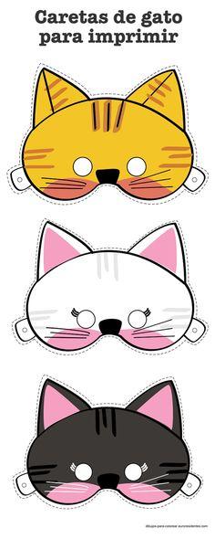 caretas de gato, cat masks