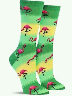 Flamingo socks #flamingos