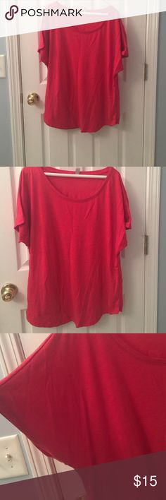 Red Domain Tee Red Next Level Domain Tee.  Very comfortable and soft!!!  Great with distress jeans! Next Level Tops Blouses