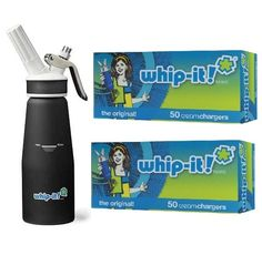 0.50 Litre Whip-It! Pro Plus Cream Whipper, Black +100 Whip-It Cream Chargers