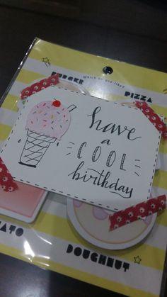 Have a cool birthday #birthdaypun #simplebirthdaycard #diybirthdaycard