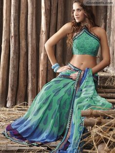 Peaceful Green Casual Wear Saree is available at Goodbells.com in just $40.00. Click here to buy: http://goodbells.com/saree/peaceful-green-casual-wear-saree.html?utm_source=pinterest_medium=link_campaign=pin22juneR21P521