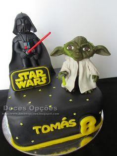 Doces Opções: O Darth Vader e o Yoda foram ao aniversário do Tom...