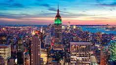 憧れの街、NY。夕焼けは設計。マンハッタン観光のおすすめ                                                                                                                                                                                 もっと見る