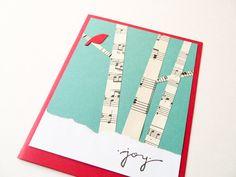 Christmas Card Handmade Card Holiday Greeting Card by newnanc