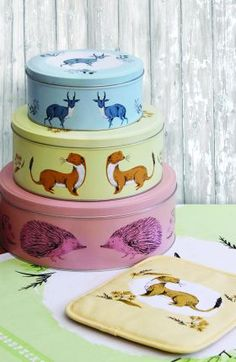 Magpie - Fauna Cake Tins Set Of 3 from Magpie