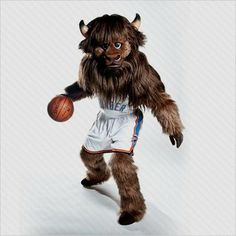 okc rumble the bison | ... Basketball Mascots: Oklahoma City Thunder Rumble the Bison Pictures