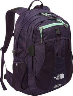 The North Face Women's Recon Laptop Backpack Dark Eggplant Purple/Greenwich Green - via eBags.com!