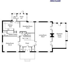 Collections Of Center Hall Colonial Floor Plan Free Home