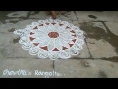 Freehand Rangoli/freehand muggulu - YouTube