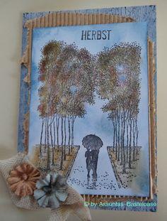 Gestempelt Gruß- und Glückwunschkarte mit einem schönen Herbstmotiv Moose Art, Handmade, Animals, Stamping, Cards, Hand Made, Animales, Animaux, Animal