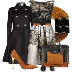 A fashion look from September 2014 featuring Alberta Ferretti dresses, Ted Baker coats and Tom Ford pumps. Browse and shop related looks.