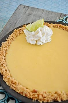 Atlantic Beach Pie - citrus filling with saltine cracker crust