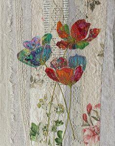 Original framed textile art | Etsy
